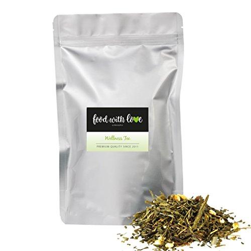 BIO-Wellness Tee Sencha Grüntee/Natürlicher Zitronentee (250g) von Azafran®