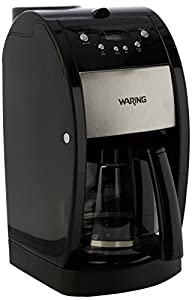 WARING Grind and Brew Coffee Maker, 12 Litre, 1000 W, Black/Stainless Steel