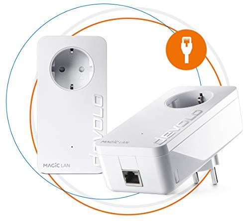 Devolo Magic 2 LAN: Weltweit schnellstes Powerline-Starterkit für zuverlässiges Heimnetzwerk einfach durch Wände und Decken hindurch über die Stromleitung bis 2400 Mbit/s, innovative G.hn-Technologie