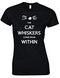 Naughtees clothing - Dan and Phil The cats whiskers come from within T-shirt. For the fans of those YouTube and BBC radio 1 vloggers Dan and Phil.