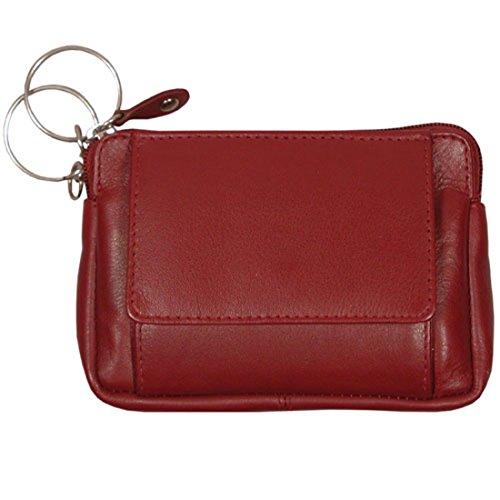 Schlüsseletui, BIG KEY,Damen und Herren Schlüsseletui, Leder, rot
