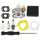 AISEN Carburateur avec Filtre à Air Tournevis de Réglage pour Ryobi RBC30SESA RBC30SBSA RHT2660DA RLT30CESA RLT30SESA RPR3025JA Remplacer ZAMA C1U-H60D C1U-H60E