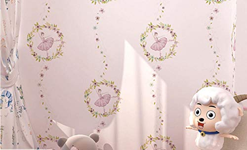 Carta da Parati Cartoon Ballerina Girl 3D Tessuto Non Tessuto Rullo per Camera da Letto Salotto TV Sfondo Muro Stanza dei Bambini Hotel Home Decorazione A