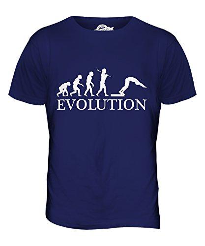 CandyMix Wasserspringen Kunstspringen Evolution Des Menschen Herren T Shirt Navy Blau