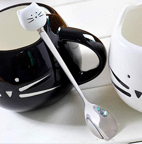 Kostüm Hunde Gefrorene - Busirde Edelstahl-Cartoon-Tier Kaffeelöffel Rührlöffel Kalte Fruchteis Dessert Kaffeelöffel Trinken Werkzeuge Trinken
