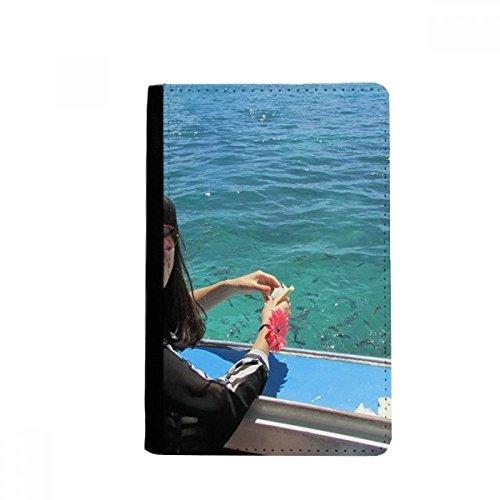 beatChong Boot Welle Meer Ellie Yao beautiflu Mädchen-Pass-Halter Travel Wallet Abdeckungs-Fall Karten-Geldbeutel