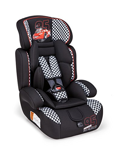 Piku 6254Disney Cars Racer Kindersitz, Gruppe 1/2/3, 9–36kg, schwarz