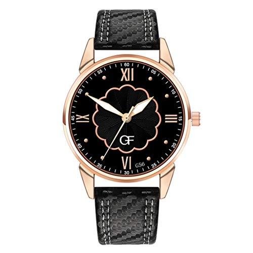 Huacat Unisex Analog Quarz Uhr mit Edelstahl Armband Stahl Gürtel Kalender Quarzuhr Chronograph Armband Herrenuhr (Vintage Orient Kalender-uhr)