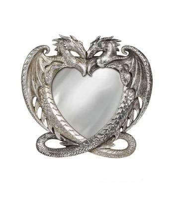 Alchemy Gothic Espejo gótico Antiguo del corazón del dragón de...
