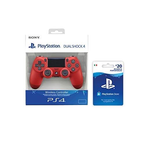 PlayStation 4 - Dualshock 4 Controller Wireless V2, Rosso +...