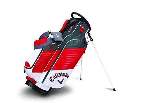 Calaway Chev Bolsa Trípode de Golf, Unisex Adulto, Blanco / Rojo / Gris, Talla Única