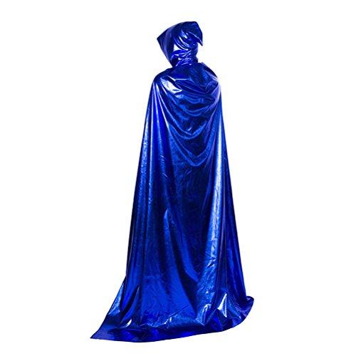 Kostüm Sensenmann Kapuze - Zhhlaixing Sensenmann Kostüm Unisex Umhang Cape Kapuze Kostüm Halloween Karneval Party Cosplay für Erwachsene Erwachsene Kostüm