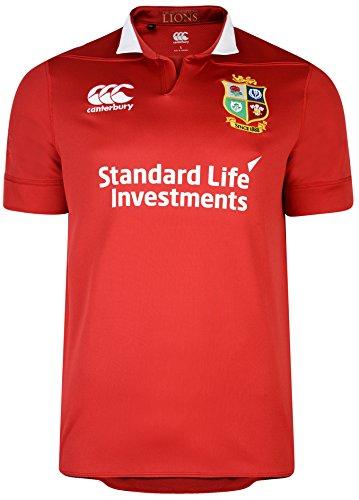 Canterbury Britisches und irisches Löwen Vaposhield Matchtrikot für Kinder 10 Jahre Rot - Tango Red (Rugby Shirt Rot Lions)