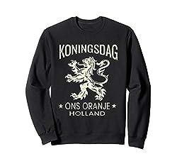 Königstag-orange T-Shirt Entwurf - niederländischer Löwe Sweatshirt