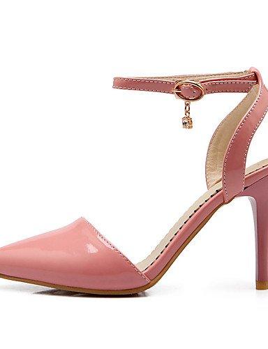 WSS 2016 Chaussures Femme-Mariage / Habillé-Vert / Rose / Beige-Talon Aiguille-Talons / Bout Pointu-Talons-Cuir Verni / Paillette green-us7.5 / eu38 / uk5.5 / cn38