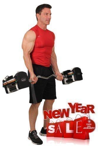 new-powerblock-exercise-fitness-gym-workout-urethane-ez-curl-chrome-bar