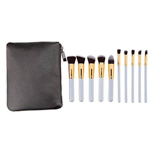 Cinnamou 10 Pcs Set Brosse Professionnelle Brosses Haute Ensemble Make Up Blush Brosses Maquillage Brosse + 1 PC Make Up Sac