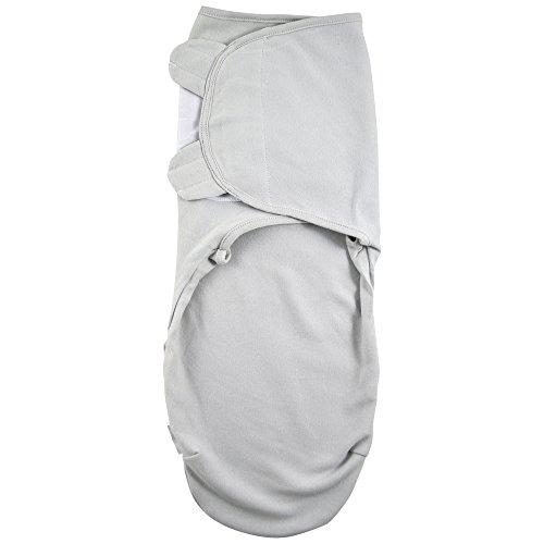 Juicy Bumbles Baby Pucksack Wickel-Decke - 3er Pack Universal Verstellbare Schlafsack Decke für Säuglinge Babys Neugeborene 0-3 Monate Grau