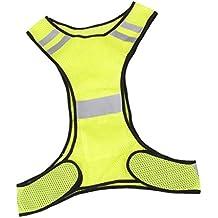 Aofocy Chaleco Reflectante de Seguridad para Correr, Trotar, Andar en Bicicleta - Amarillo