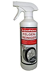 500 ml CleanPrince Rim Cleaner in the Spray: Ideal for Alu Rims Brake Ddust Steel Wheel Trim Cover Cleaning Spray Intensive Strong Car Caps Agents 500 Accessories Workshop Auto Repair