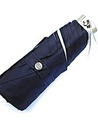 Popy Five fold Black Umbrella with Superior Quality Silver Coated Nylon Cloth, Steel Tube, Silver Tipped Ribs, Ideal Travel Umbrella, Ultra Portable