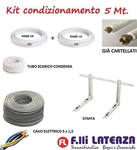 """Kit de instalación de aire acondicionado, climatizador, 5 m, tubo de cobre 1/4"""" 3/8"""""""