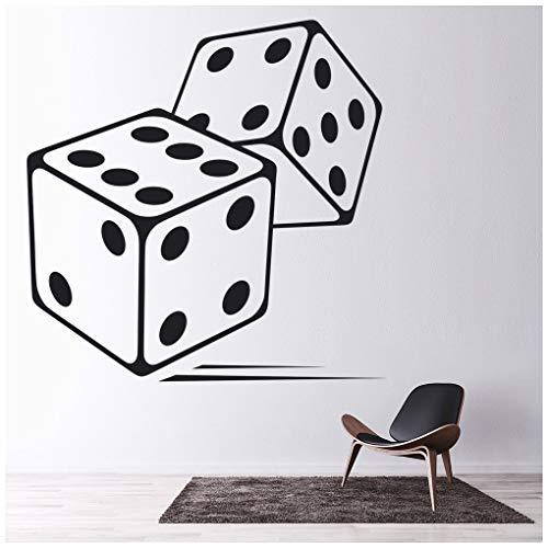 Azutura dado adesivo murale giochi da tavolo adesivo da parete casinò di gioco home decor disponibile in 5 dimensioni e 25 colori x-grande bianco