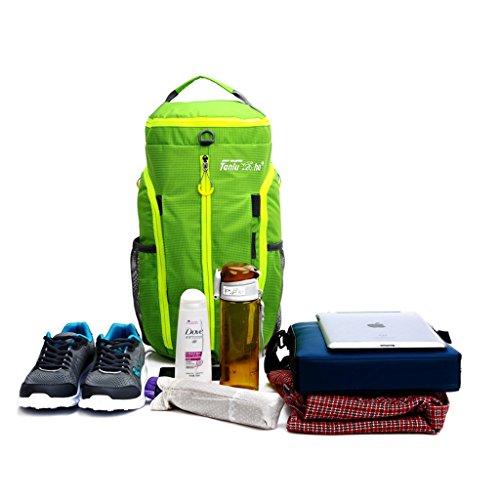 Wasserdichte Sporttasche,Packable Reisetasche Large Gymtasche Unisex Leichte sports Duffel Tasche Crossbody bag Rucksack für Sauna Fitnesstudio Schwimmbad Grün