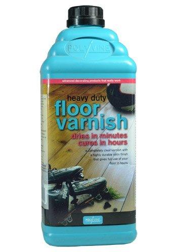 Satin 2l (Polyvine Heavy Duty Floor Varnish - Satin Finish - 2 litre)