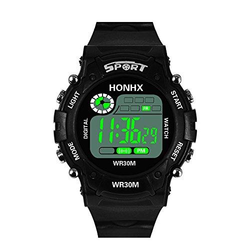 YULINGSTYLE Hochwertige Uhr Mode Herren Digital LED Analog Quarz Alarm Datum Sport ArmbanduhrDie neuesten 2019