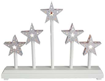 The Benross Christmas Workshop Battery Operated 5 Stars Bridge Light