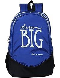 "POLE STAR ""BIG-3"" 38 Lt Royal Blue Black Casual Backpack I School Bag"