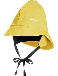 Playshoes Unisex Kinder Mütze Regenmütze mit Fleecefutter