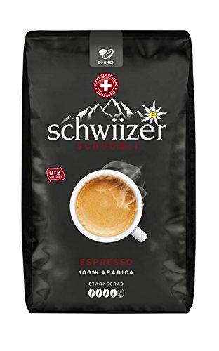Schwiizer Schüümli Espresso Ganze Kaffeebohnen, 3er Pack (3 x 500 g) (Espresso-frühstück)