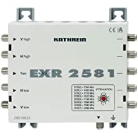 Kathrein EXR 2581 Einkabel-Multischalter für Satelliten-Empfangsanlagen (HDTV, 8 Receiver Anschluß, 1 x terrestrisch Eingang, 4 x Sat-ZF Eingänge)