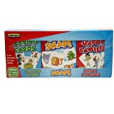 Triple Card Game Pack - Snap, Happy Families, Playing Cards