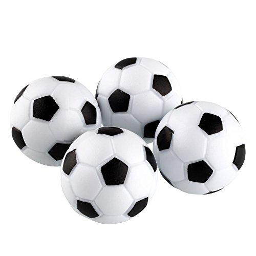 Forfar 4pcs Tischfußball Fun Kunststoff 32mm Fussball Tabelle UFootball Kugel Fussball Indoor Spiel Black + White Spielzeug Entertainment Party