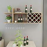 Health UK Shelf- Holz Wandregal, Weinregal Weinschrank Wandbehang Gitter Rhombic Restaurant Hung Haushalt Weinregal Weinglas Halter welcome (Farbe : C)