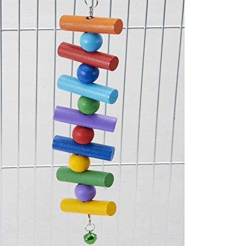 emours natur Colorful Holz zum Aufhängen Käfig Toys Kleintiere Kauen Spielzeug für Hamster Totoro Chinchillas und andere kleine Tiere (Guinea Pet Pig Käfig)
