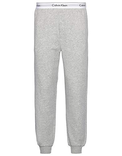Calvin Klein Herren Jogger Sporthose, Grau (Grey Heather 080), W(Herstellergröße: XL) Homme Casual Pants