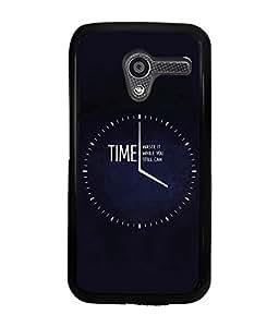 PrintVisa Metal Printed Time Designer Back Case Cover for Motorola Moto X (1st Gen)-D5018