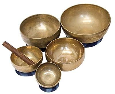 Klangschale 200g Messing Bronze Handgetrieben Esoterik Klangmassage Indien Yoga