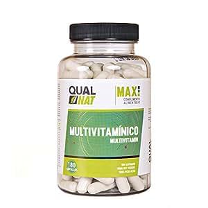 Integratore multivitaminico con minerali e vitamine essenziali - Aiuta a prevenire l'affaticamento e migliora la produzione di energia - Contiene ferro, calcio, vitamine C, B, A ed E -180 capsule