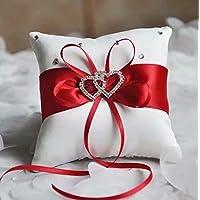 SUNXIN New Lovely Bud Wedding Pocket Ring Pillow Cushion Bearer 15 x 15cm