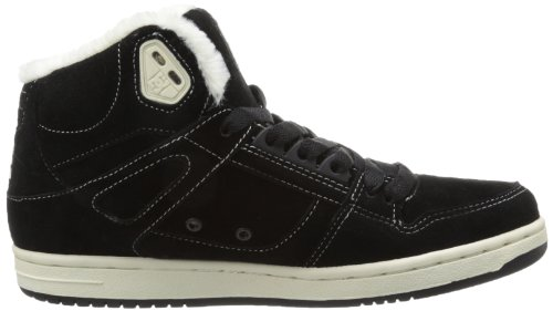 DC Shoes Rebound High LE Women trainer sneaker leather padded Black/Oyster