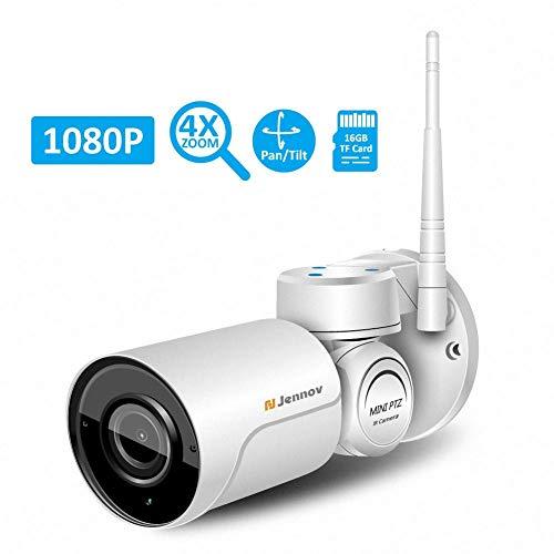 Zezego telecamera di sorveglianza wireless-2.0mp telecamera di sorveglianza wireless ip ip wifi 1080p telecamera esterna ptz impermeabile con visione notturna casa/ufficio / baby/babysitter