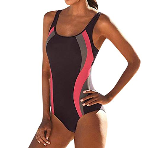 SoonerQuicker Badeanzug Damen GroßE GrößE Womens Swimming Tankini gepolsterter Badeanzug Monokini Push Up Bikini Sets Bademode (Speedo Badeanzug Verkauf)
