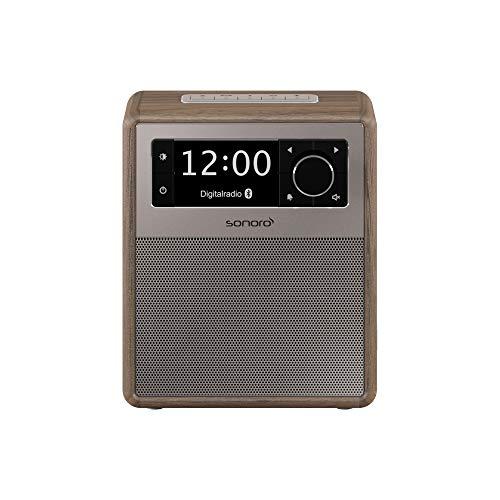 sonoro Easy Digitalradio (UKW/FM/DAB+, AUX-in, USB, Bluetooth) Walnuss - Tragbarer Radio-Wecker (Portable Radio Wecker)