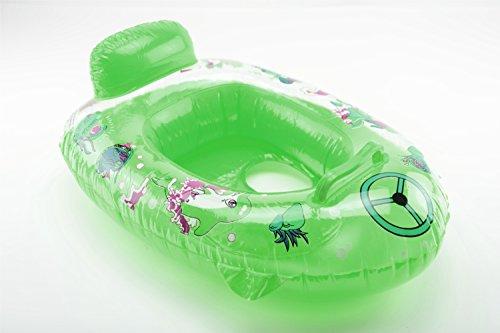 OKCS Gummiboot für Kinder Schlauchboot Pool Schwimmen Strandboot Junior Schwimmbad Badespaß - in Transparent Grün