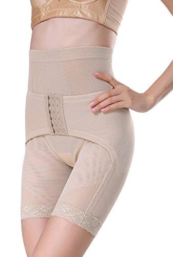 Smile YKK Femme Cullote Panty Haute Taille Montre Fesse Sculptante Slimmer Abricot